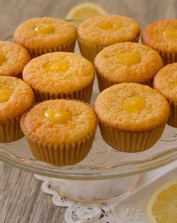 Lemon Honey Chiffon Cupcakes