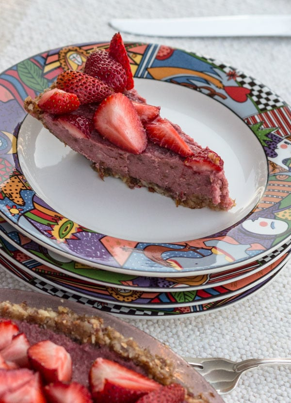 Strawberry Ice Cream Pie—vegan and gluten-free