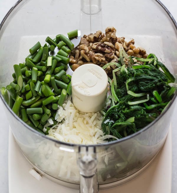for Garlic Scape and Mess O' Greens Pesto