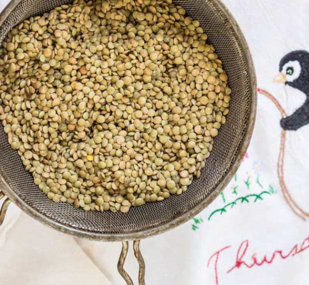 raw lentils for Lentil Spinach Keema and Saffron Rice