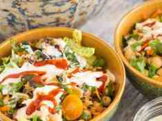Summer Harvest Salad with Chickpeas and Wheat Berries  {vegan}