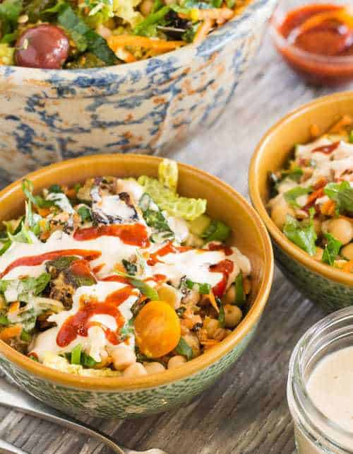 Summer Harvest Salad with Chickpeas and Wheat Berries