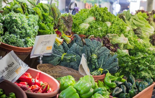 Portland Farmer's Mkt veggie display