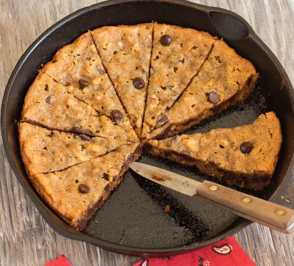 Skillet Chocolate Chip Walnut Cookie | Letty's Kitchen