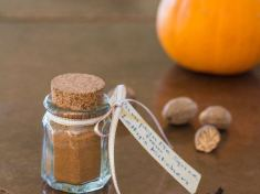 Homemade Pumpkin Pie Spices in cute jar