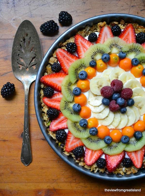 Beautiful Breakfast Tart from TVFGI for Vegetarian Spring Brunch Recipes