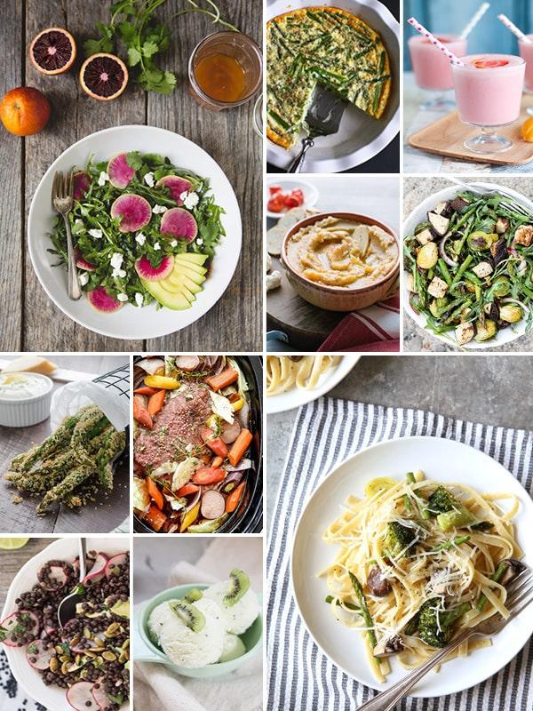 Eat Seasonal March 2016 photo collage