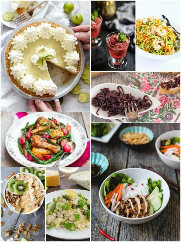 April Eat Seasonal Collage for Shallot and Red Wine Jam post
