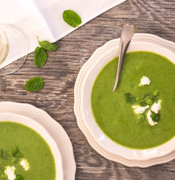 Easy Sweet Pea and Mint Soup | Letty's Kitchen