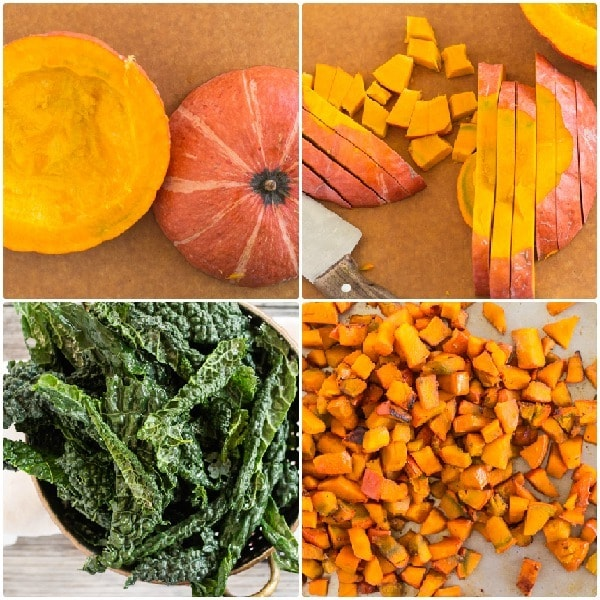 steps for Kale and Kabocha Squash Salad with Roasted Red Pepper Vinaigrette | Letty's Kitchen