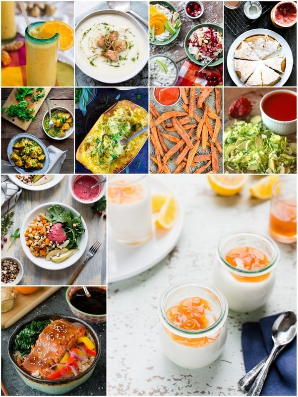collage of seasonal recipes for Healthy Tangerine Julius Smoothie |Letty's Kitchen