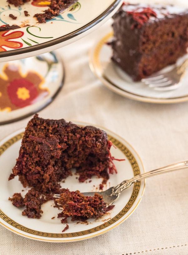 Beet Carrot Chocolate Cake
