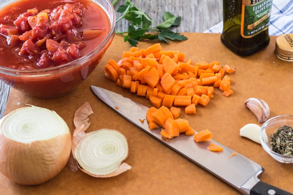 Ingredients for Quick and Easy Tomato Carrot Marinara Sauce | Letty's Kitchen