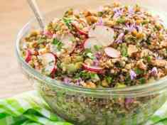 French Green Lentil and Quinoa Salad
