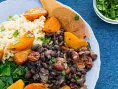 Golden Beets with Black Beans and Cherries