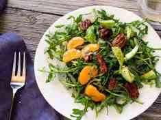Arugula Salad with Clementines and Maple Pepper Pecans
