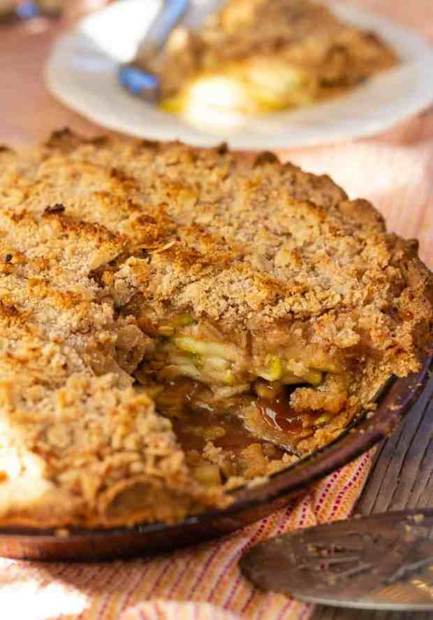 Zucchini Mock Apple Pie with Oat Almond Crumble | Letty's Kitchen