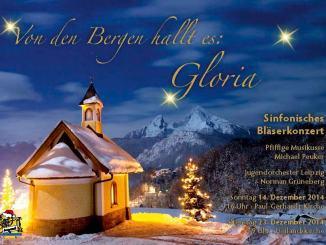 Einladungskarte Weihnachtskonzerte