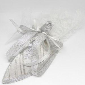 Islamitisch Bruiloft Bedankje 'Schoentje' (Zilver)