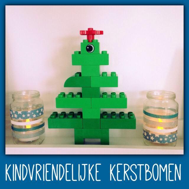 Ideeën voor een kindvriendelijke kerstboom, ook duurzame keuzes, voor baby, peuter, kleuter en oudere kinderen - LEGO of Duplo boompje