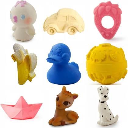 duurzame speelgoed cadeaus voor baby - oli & carol bijt- & badspeelgoed