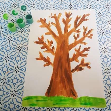 101 ideeën om te knutselen met kinderen - boom schilderen