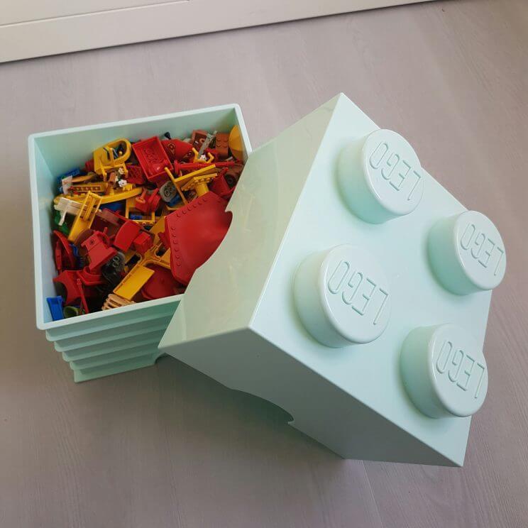 De leukste opbergmanden en opbergdozen voor de kinderkamer -Lego brick