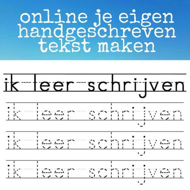 Online een handgeschreven tekst maken