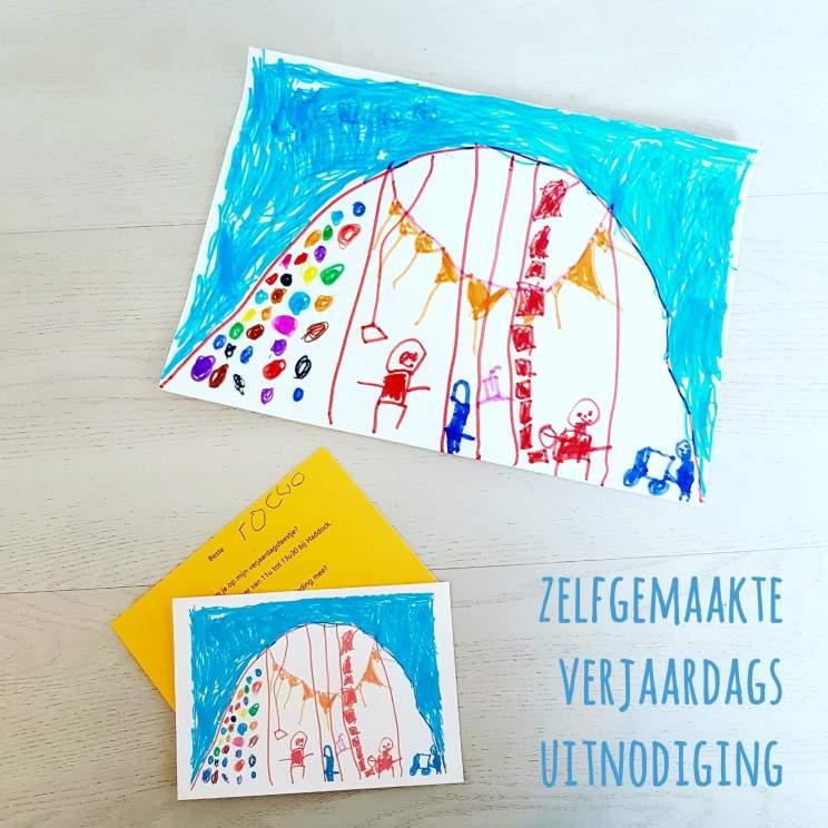 DIY voor kinderfeestje: een zelfgemaakte verjaardagsuitnodiging - Birthday party invite crafting