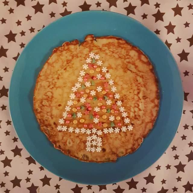 pannenkoek kerstboom versieren
