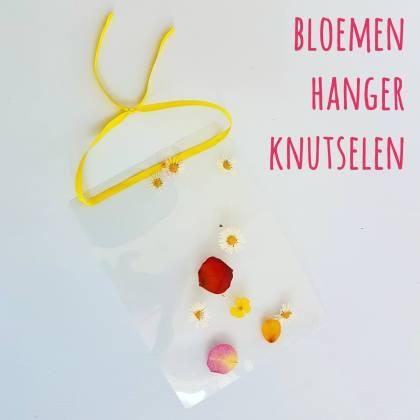 DIY kunst voor kids: een bloemen hanger knutselen