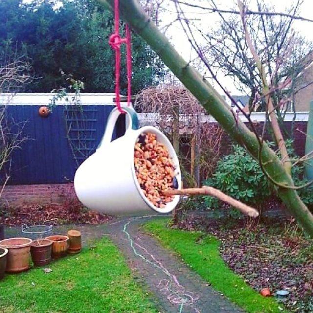 DIY: kopje vogelvoer maken