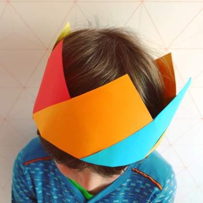 Knutselen voor Koningsdag en Oranje: kroon van papier