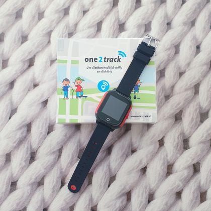 One2Track horloge voor kinderen met stappenteller, smartwatch en locatie tracker
