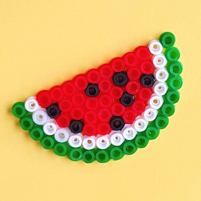 Watermeloen strijkkralen