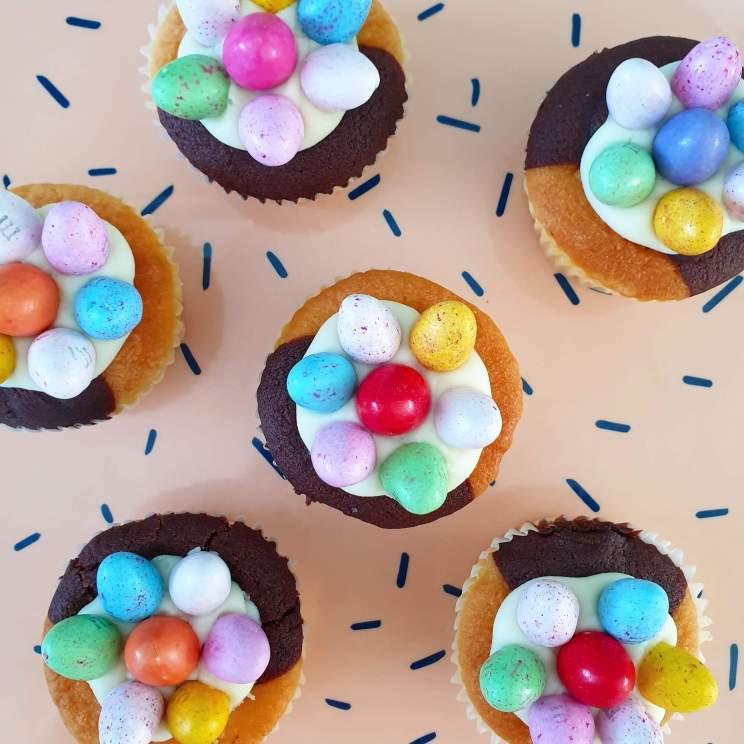 cupcakes en muffins voor pasen