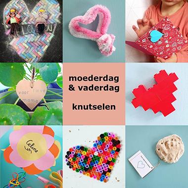 Wonderbaar Moederdag en Vaderdag: ideeën om te knutselen - Leuk met kids KZ-68