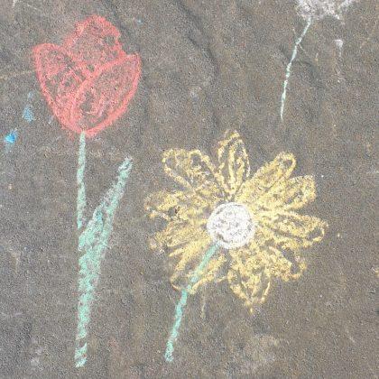 stoepkrijt bloemen