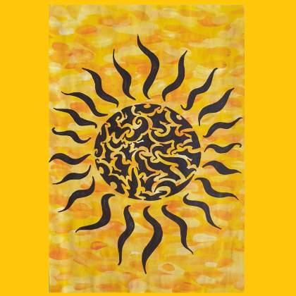 Lente en zomer knutselen: leuke ideeën voor kinderen - de zon schilderen