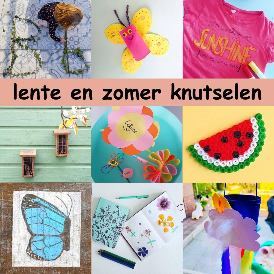 Lente en zomer knutselen: leuke ideeën voor kinderen