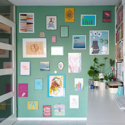 Knutselwerkjes bewaren kunst als aan de muur