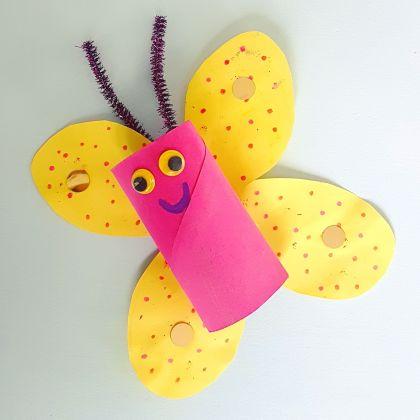 vlinder knutselen