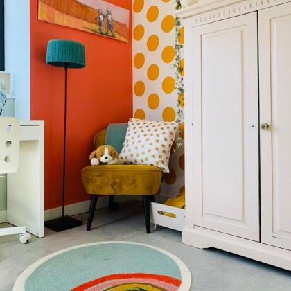 De Leuke Update #34 | nieuwtjes, ideeën, musthaves en uitjes voor kids - kinderkamer in oranje blauw geel