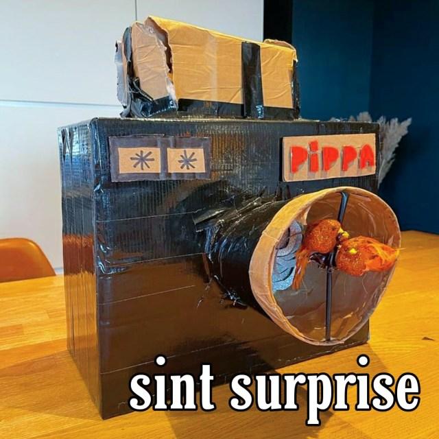 Sinterklaas surprise camera knutselen