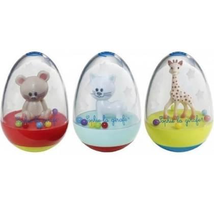 Leukste kraamcadeau: 101 cadeau ideeën voor de geboorte van een baby. Erg schattig: een tuimelaar van het Franse girafje Sophie de Giraf