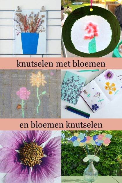 Bloemen knutselen en knutselen met bloemen