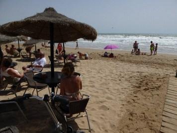 Bar am Strand von La Marina