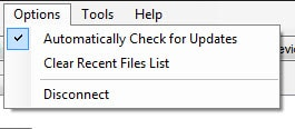 Configuring the Update Check Option