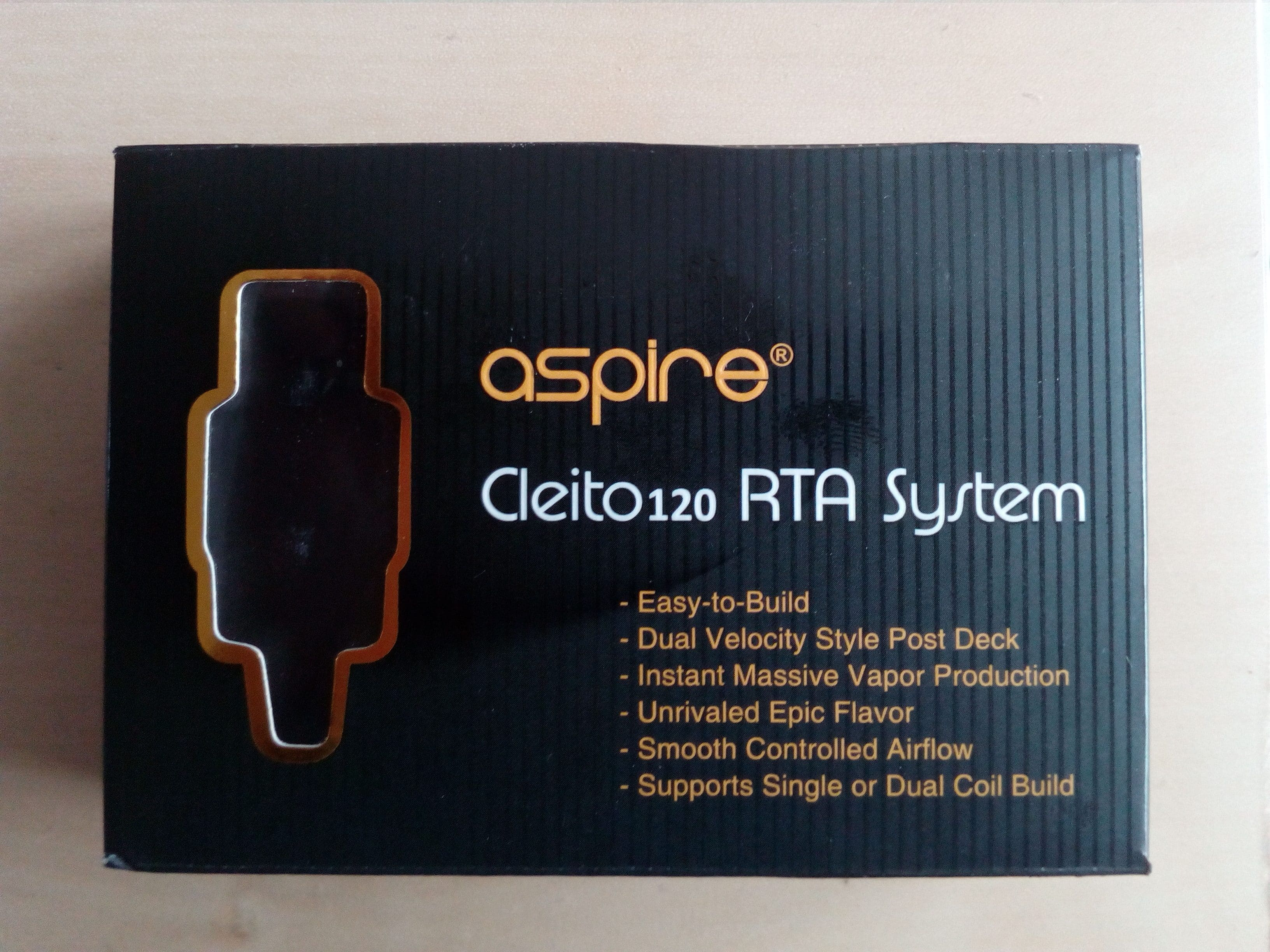 "RTA SYSTEM ""ASPIRE CLEITO 120"" [VapeMotion]"