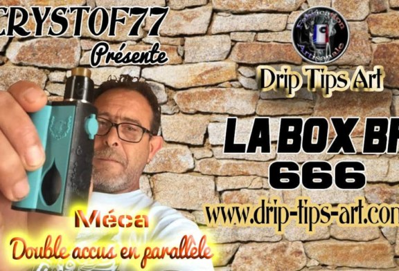 Box  BF 666, 2×18650 parallèle par Drip Tips Art [VapeMotion]
